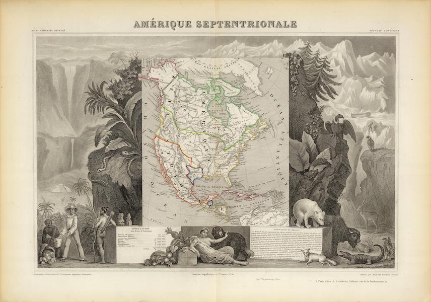 Atlas National Illustre - Amerique Septentrionale (1856)