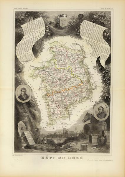 Atlas National Illustre - Dept. De Cher (1856)