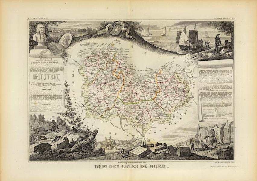 Atlas National Illustre - Dept. De Cotes du Nord (1856)