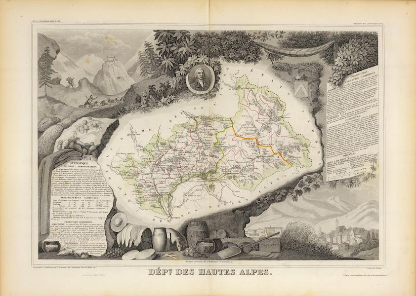 Atlas National Illustre - Dept. De Hautes Alpes (1856)
