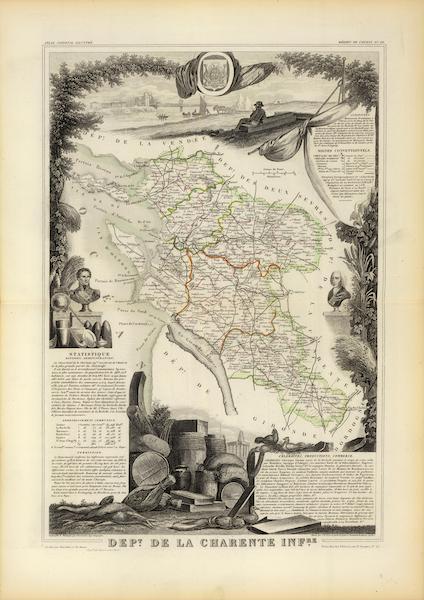 Atlas National Illustre - Dept. De La Charente Infre (1856)