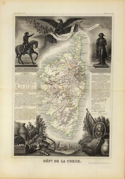 Atlas National Illustre - Dept. De Corse [Corsica] (1856)