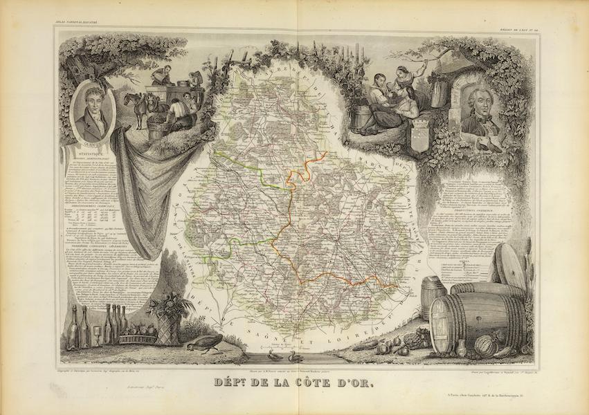 Atlas National Illustre - Dept. De La Cote D'Or (1856)