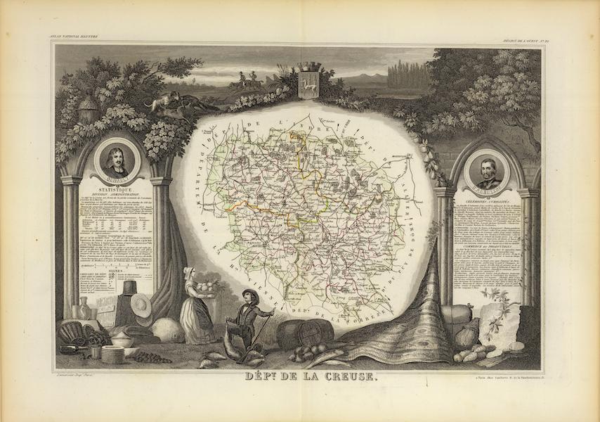 Atlas National Illustre - Dept. De La Creuse (1856)