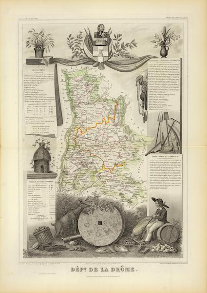 Atlas National Illustre - Dept. De La Drome (1856)