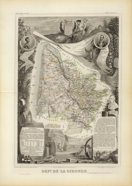 Atlas National Illustre - Dept. De La Gironde (1856)