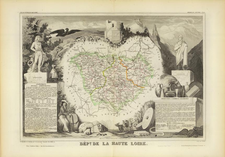 Atlas National Illustre - Dept. De La Haute Loire (1856)