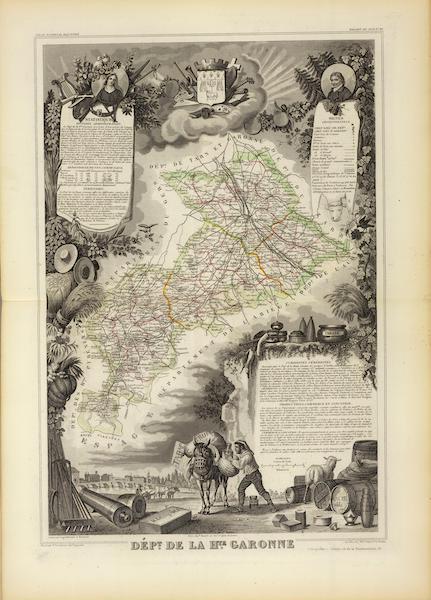 Atlas National Illustre - Dept. De La Hte. Garonn (1856)