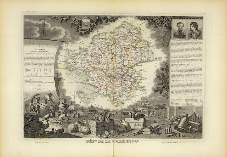 Atlas National Illustre - Dept. De La Loire Infre (1856)