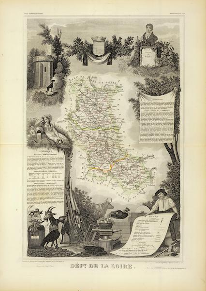 Atlas National Illustre - Dept. De La Loire (1856)