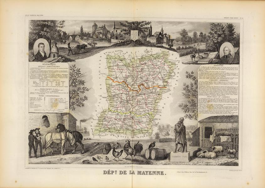 Atlas National Illustre - Dept. De La Mayenne (1856)
