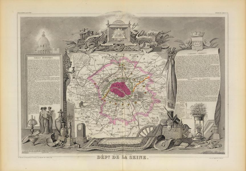 Atlas National Illustre - Dept. De La Siene (1856)
