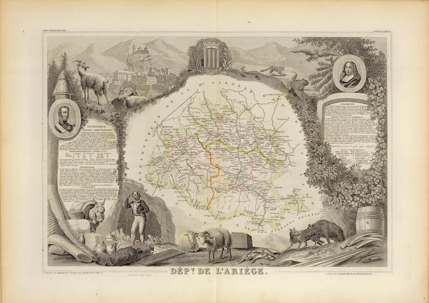 Atlas National Illustre - Dept. De L'Ariege (1856)