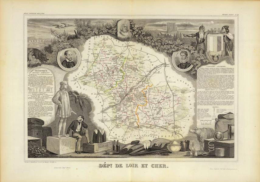 Atlas National Illustre - Dept. De Loir et Cher (1856)