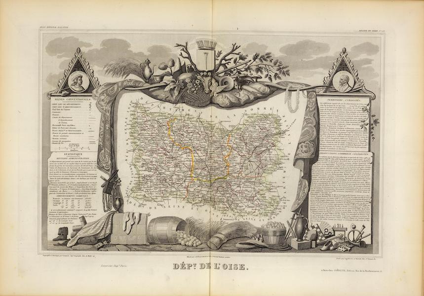 Atlas National Illustre - Dept. De L'Oise (1856)