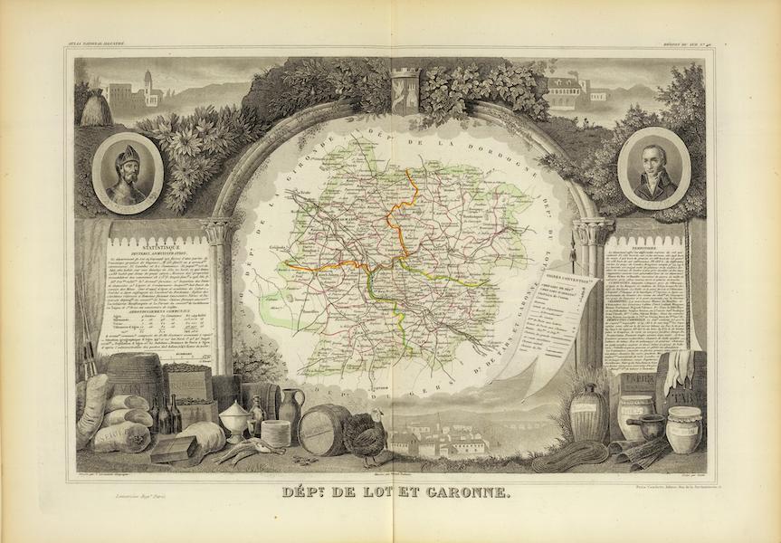 Atlas National Illustre - Dept. De Lot et Garonne (1856)