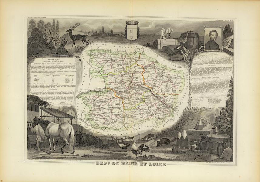 Atlas National Illustre - Dept. De Maine et Loire (1856)