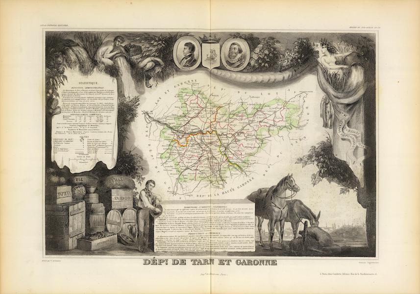 Atlas National Illustre - Dept. De Tarn et Garonne (1856)