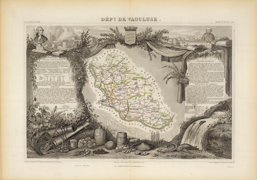 Atlas National Illustre - Dept. De Vaucluse (1856)