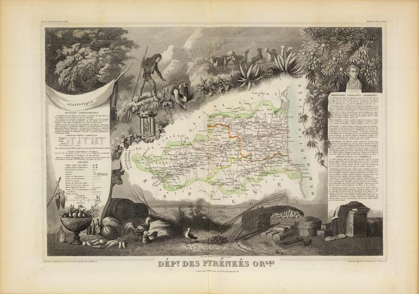 Atlas National Illustre - Dept. Des Pyrenees Orles (1856)