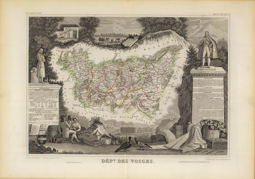 Atlas National Illustre - Dept. Des Vosges (1856)