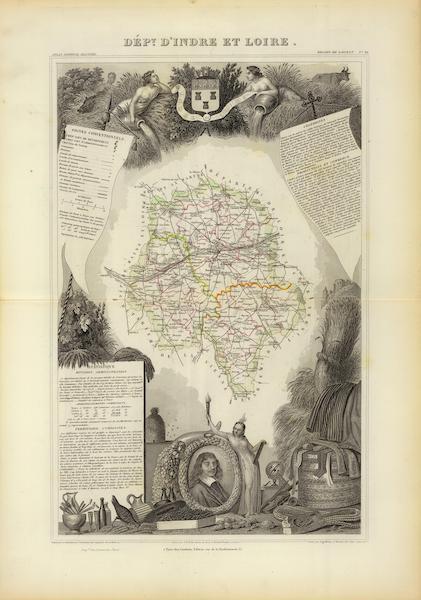 Atlas National Illustre - Dept. D'Indre et Loire (1856)