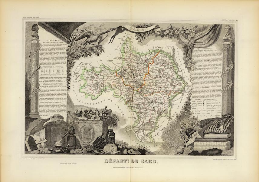 Atlas National Illustre - Dept. Du Gard (1856)