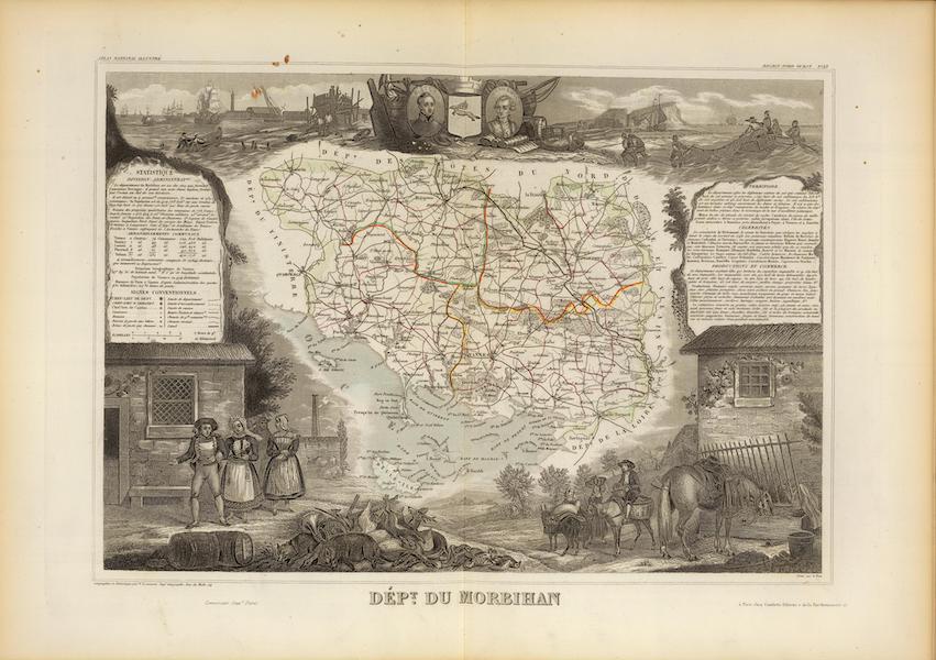 Atlas National Illustre - Dept. Du Morbihan (1856)