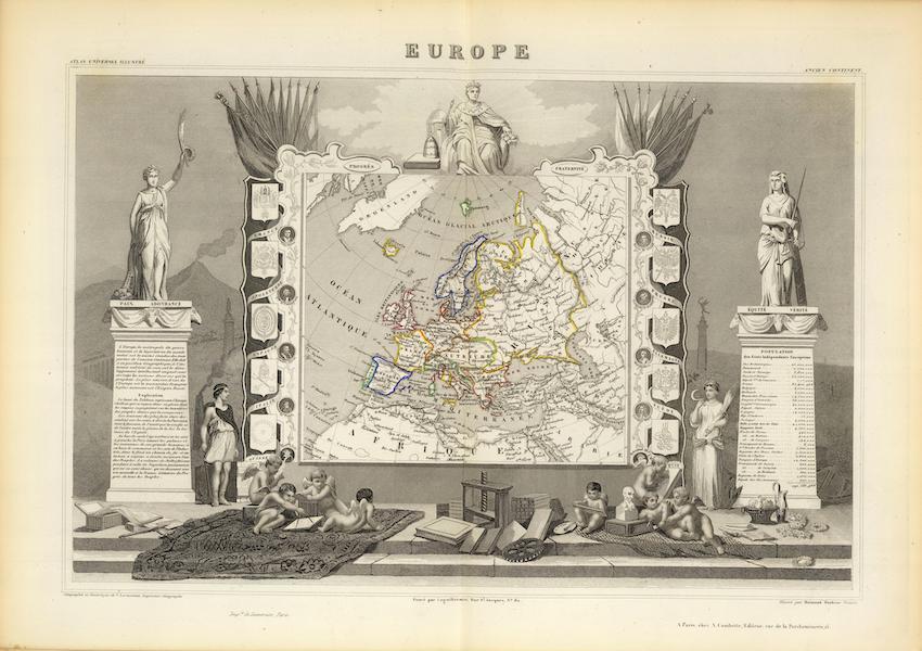 Atlas National Illustre - Europe (1856)