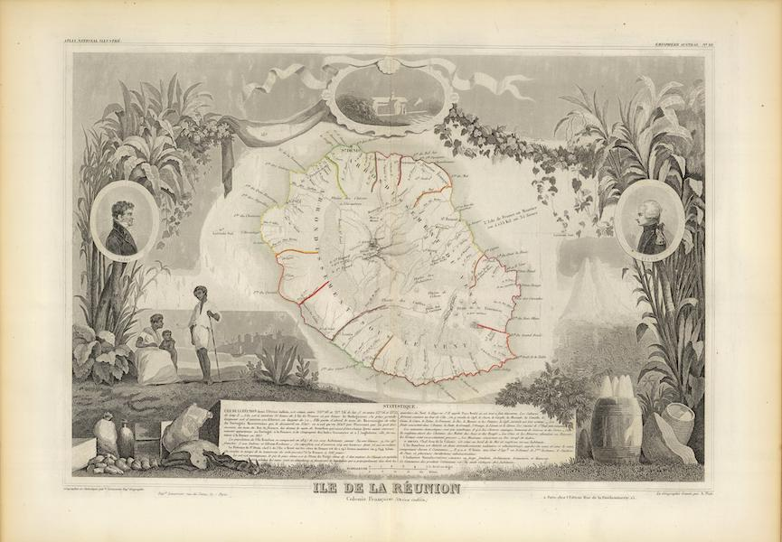 Atlas National Illustre - Isle de la Reunion (1856)
