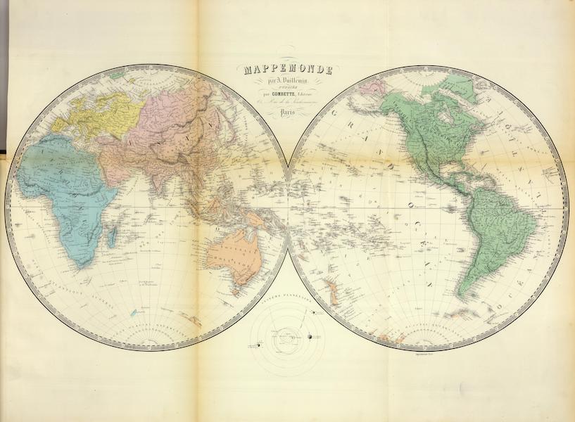 Atlas National Illustre - Mappemonde (1856)