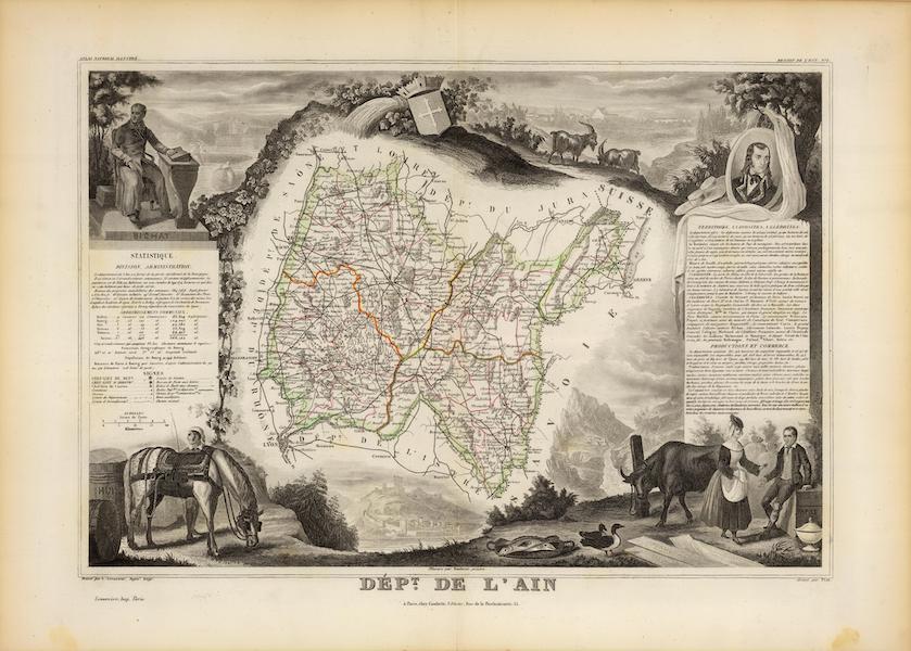 Atlas National Illustre - Dept. De L'Ain (1856)