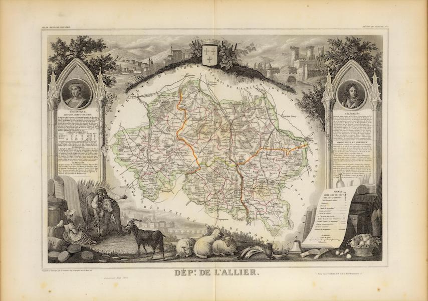 Atlas National Illustre - Dept. De L'Allier (1856)