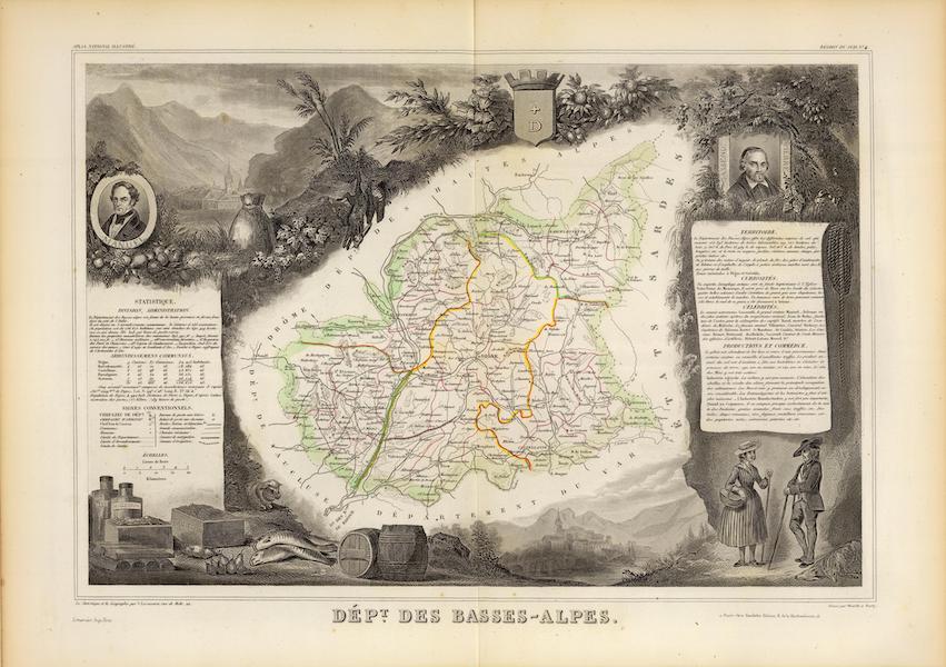 Atlas National Illustre - Dept. De Basse-Alpes (1856)