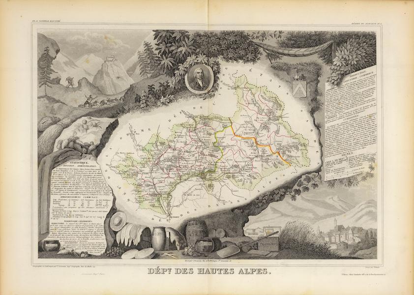 Atlas National Illustre - Dept. De Hautes Alpes (1856)