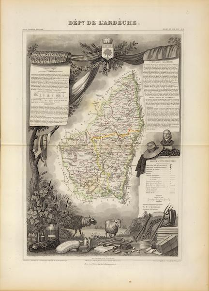 Atlas National Illustre - Dept. De L'Ardeche (1856)