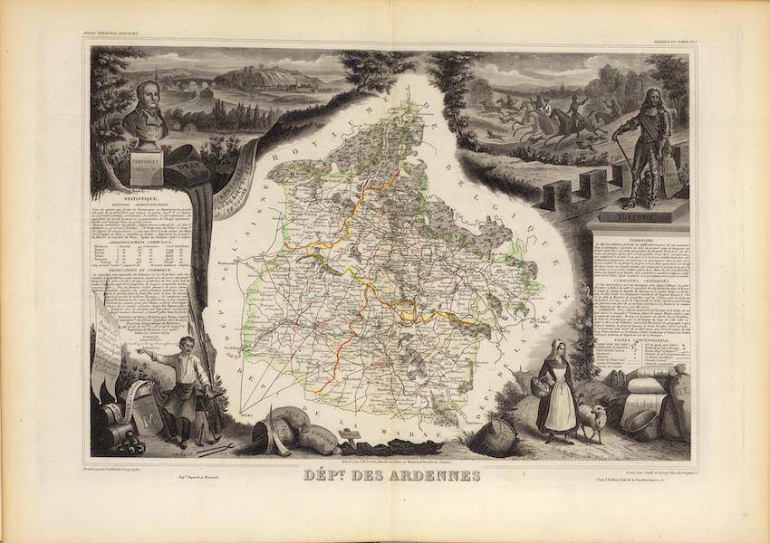 Atlas National Illustre - Dept. De Ardennes (1856)