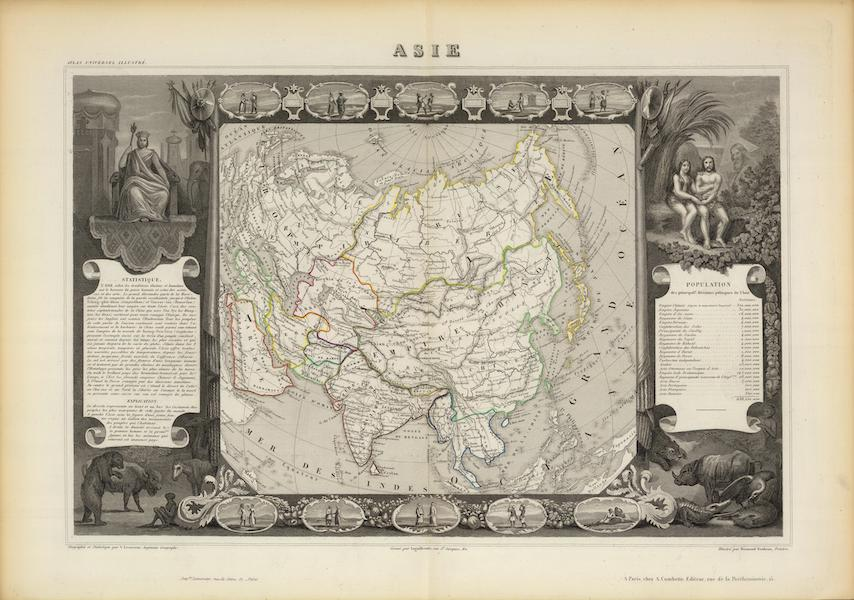 Atlas National Illustre - Asie (1856)