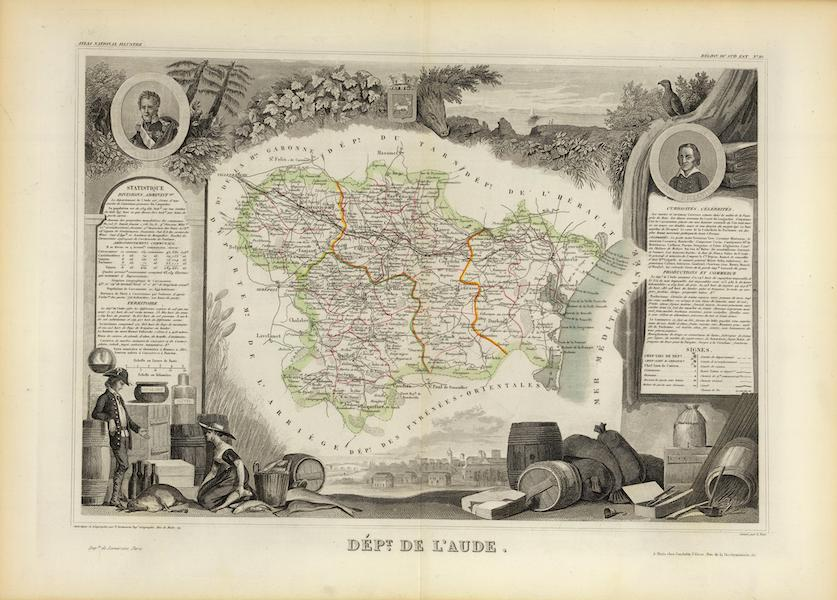 Atlas National Illustre - Dept. De L'Aude (1856)