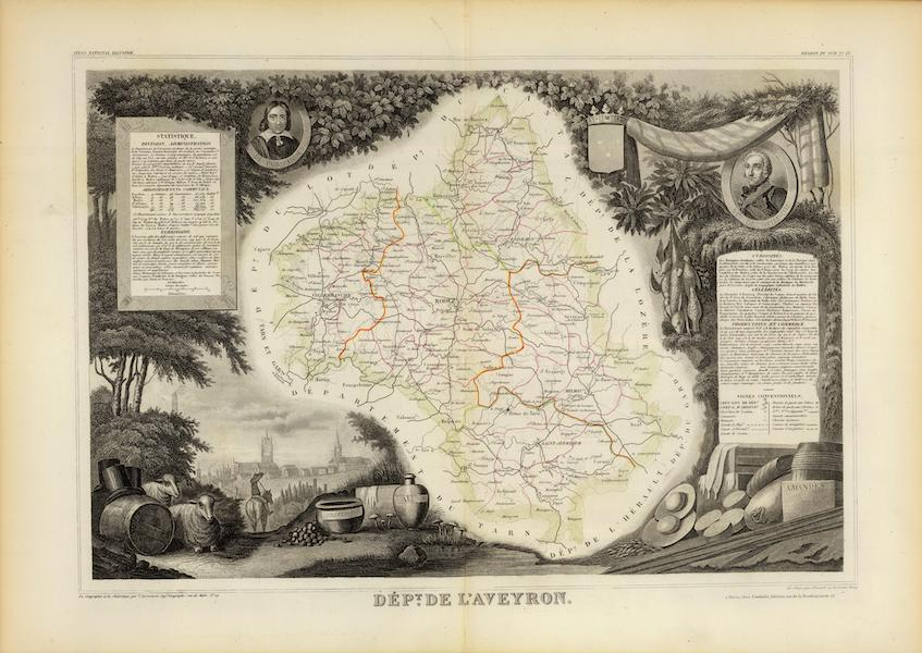 Atlas National Illustre - Dept. De L'Aveyron (1856)