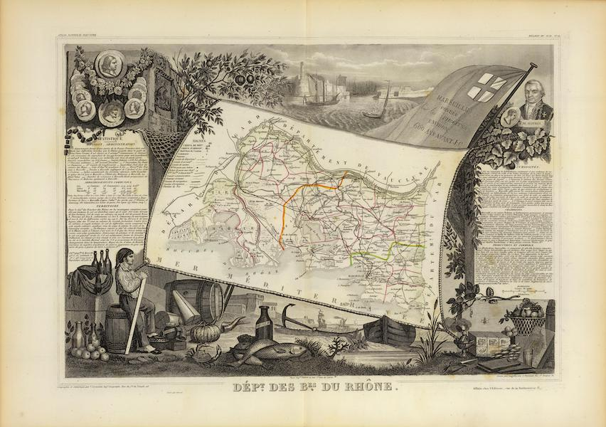 Atlas National Illustre - Dept. De Bes. Du Rhone (1856)