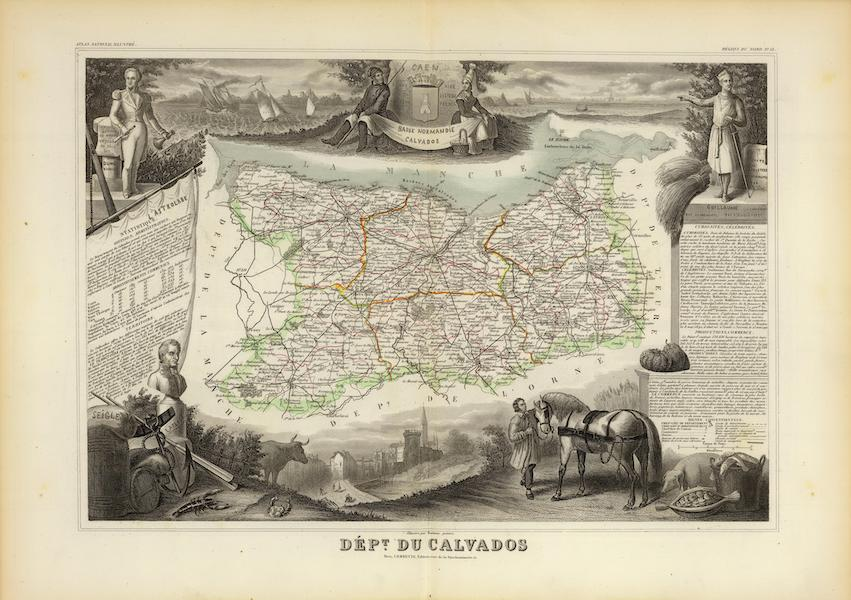 Atlas National Illustre - Dept. Du Calvados (1856)