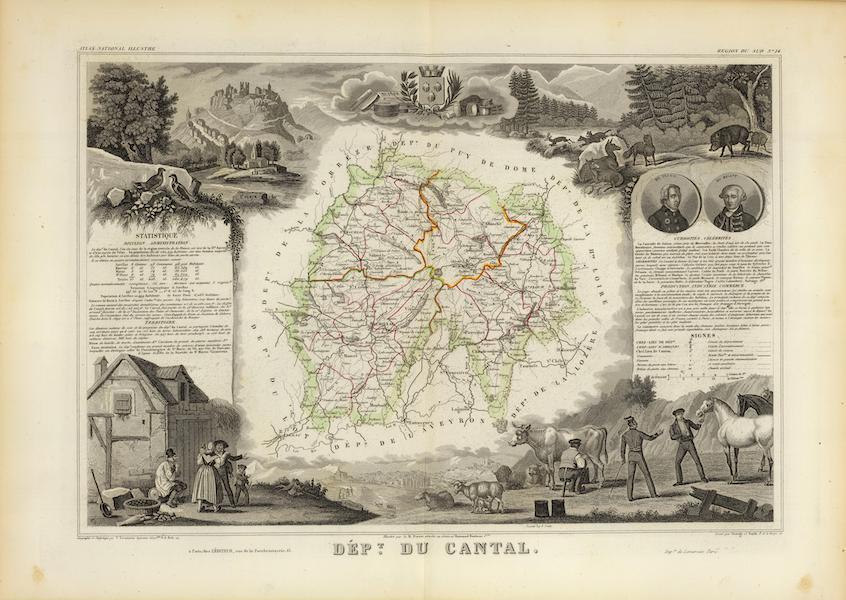 Atlas National Illustre - Dept. Du Cantal (1856)