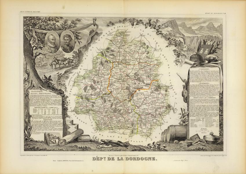 Atlas National Illustre - Dept. De La Dordeogne (1856)