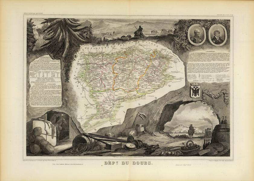 Atlas National Illustre - Dept. Du Doubs (1856)
