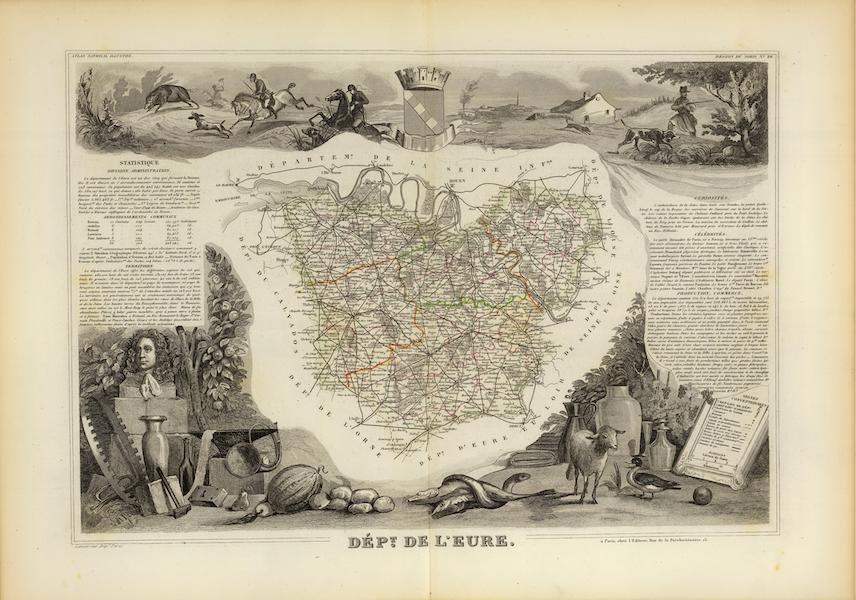 Atlas National Illustre - Dept. De L'Eure (1856)