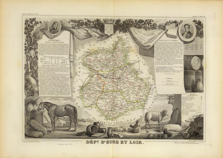 Atlas National Illustre - Dept. De L'Eure et Loir (1856)