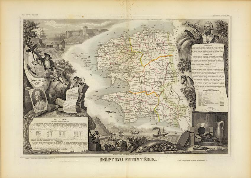 Atlas National Illustre - Dept. Du Finistere (1856)