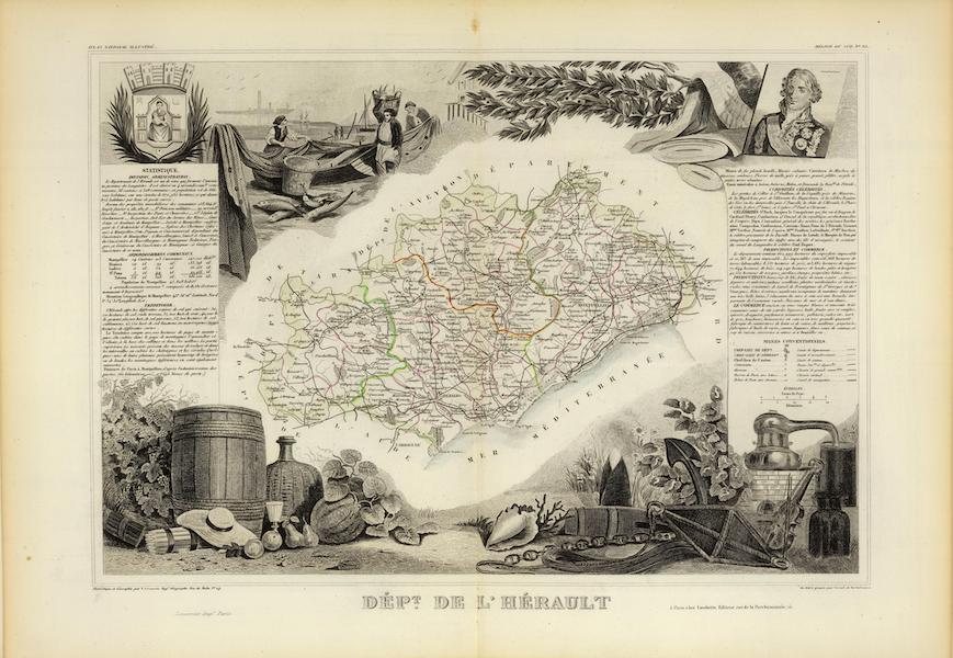 Atlas National Illustre - Dept. De L'Herault (1856)