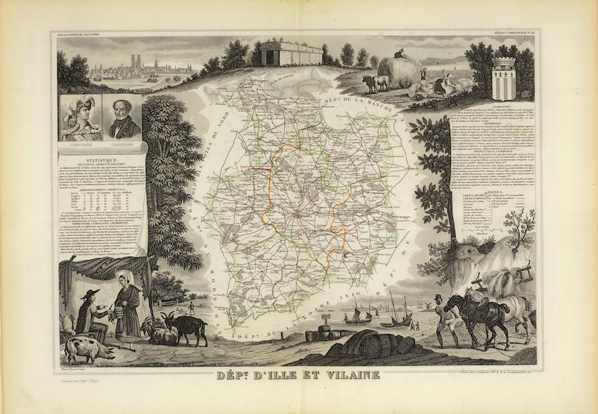 Atlas National Illustre - Dept. D'Ille et Vilaine (1856)